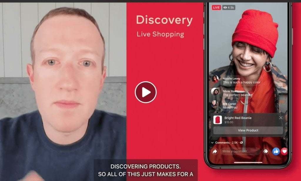 Live streamers will be able to sell products using Facebook Shops.